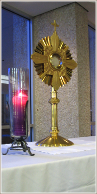 The monstrance in our chapel